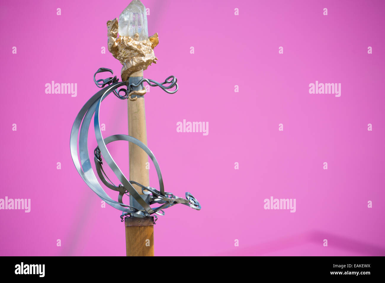 The hilt of the grand  ceremonial sword at the National Eisteddfod of Wales - Stock Image
