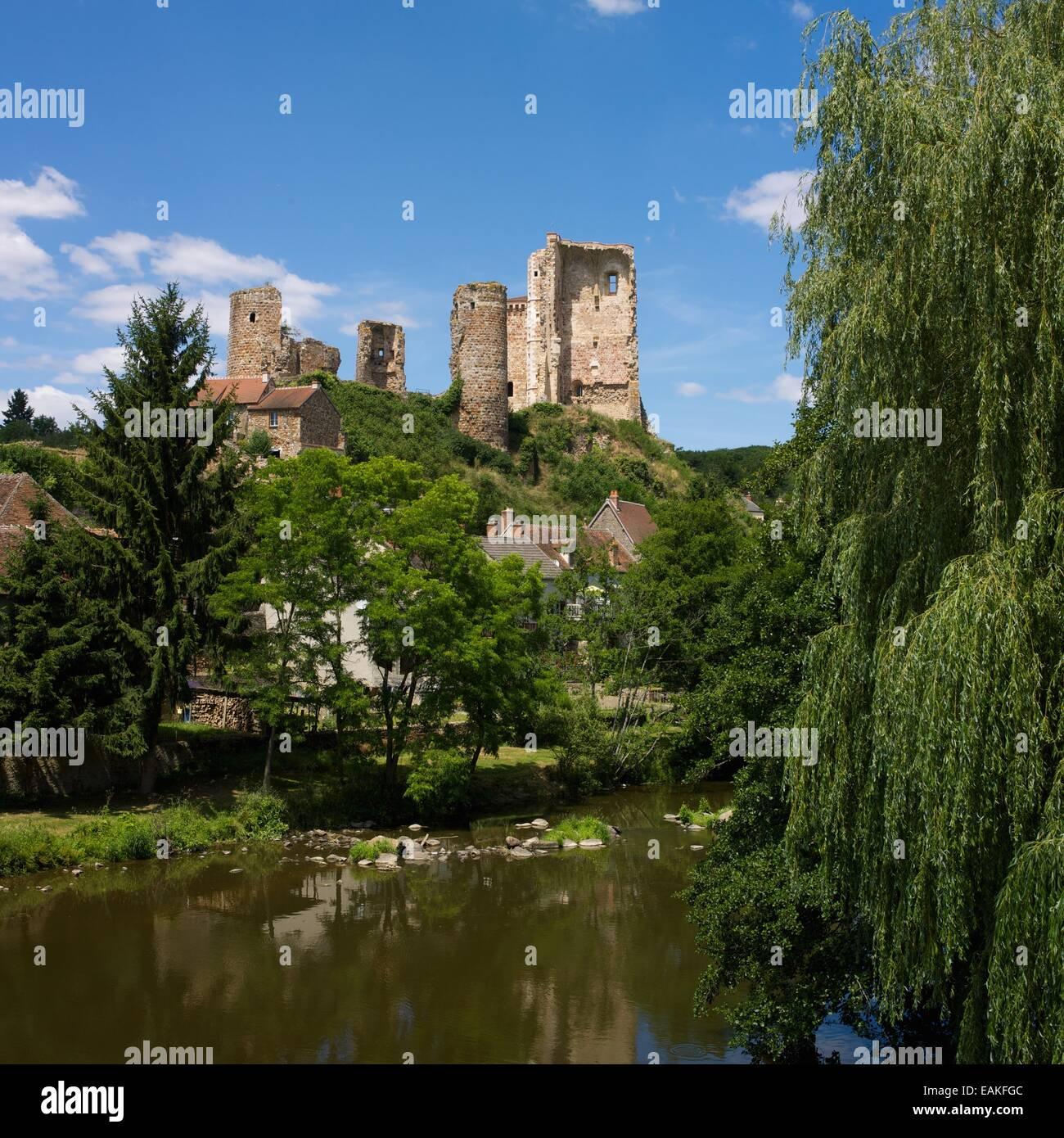 Castle of Herisson,  Bourbonnais, Allier, Auvergne, France, Europe Stock Photo