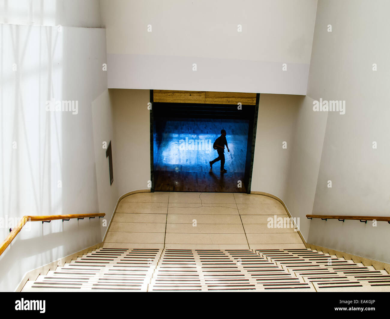 Stairways to Tunnel - Stock Image