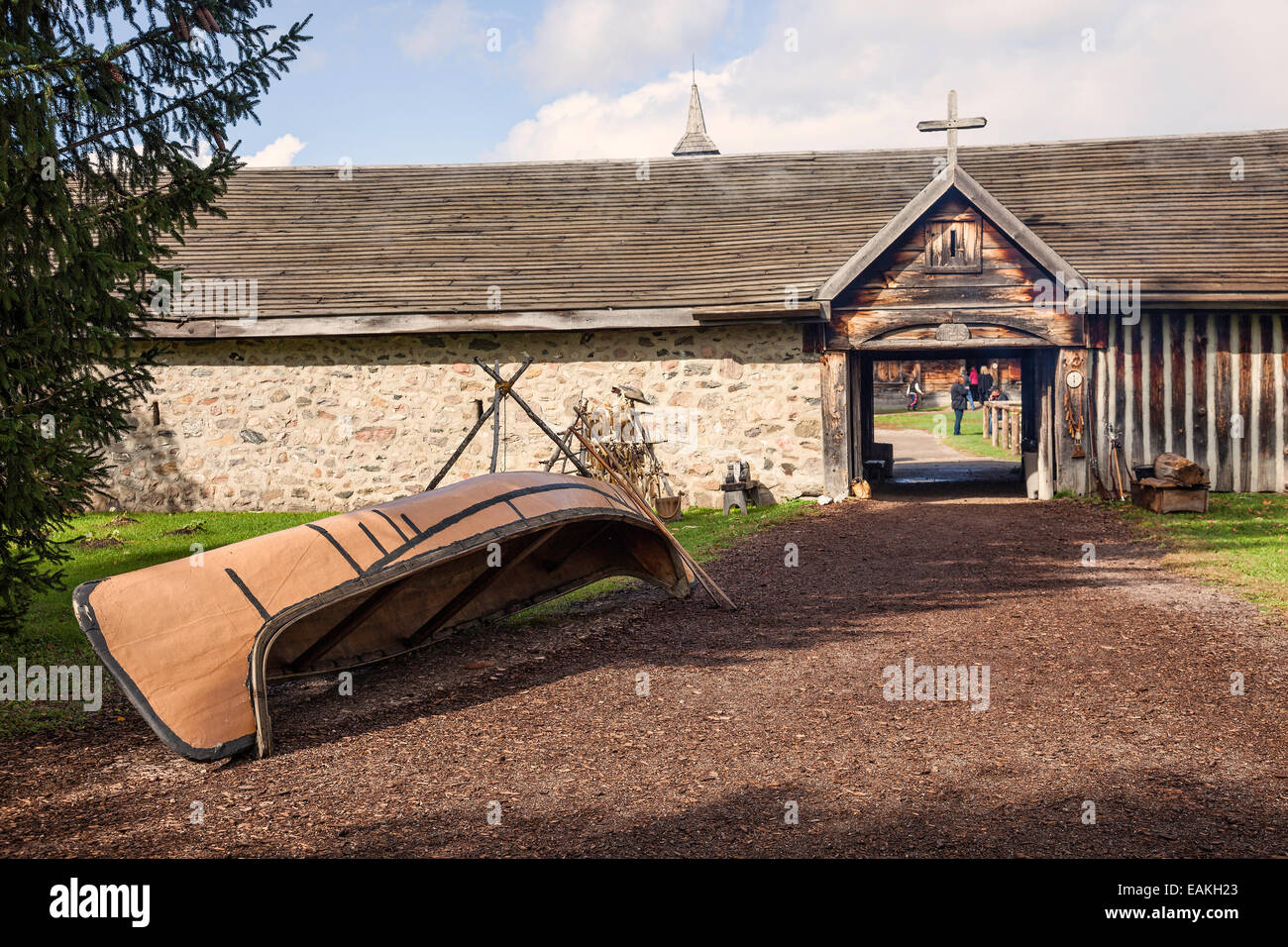 Sainte Marie among the Hurons;Original authentic Native American Indian Village in Midland;Ontario;Canada - Stock Image