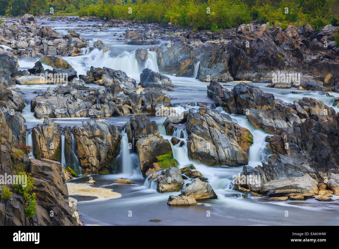 Great Falls Park, Virginia, USA - Stock Image