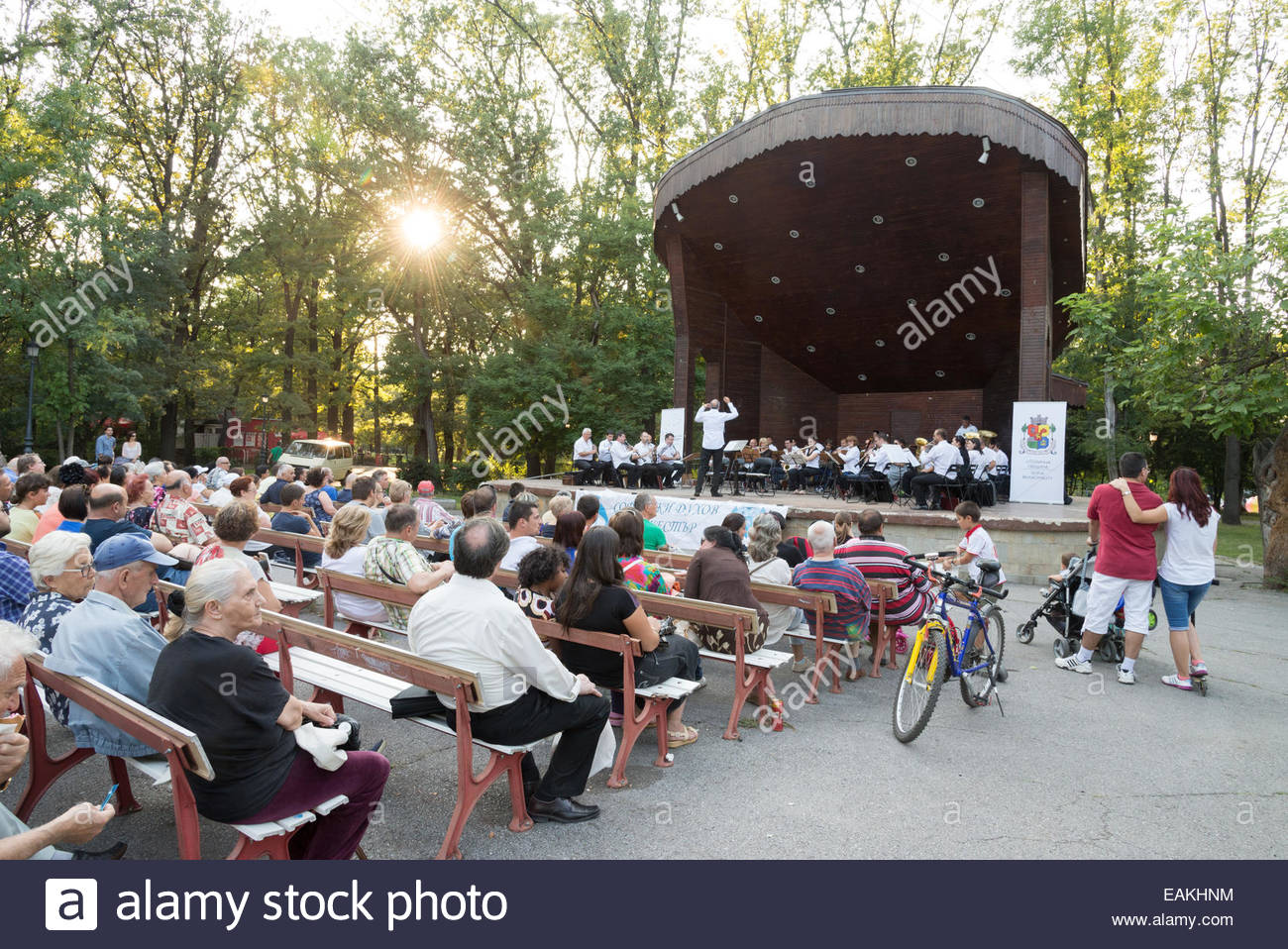 Free classical music open air concert in Park Borisova gradina, Sofia, Bulgaria - Stock Image