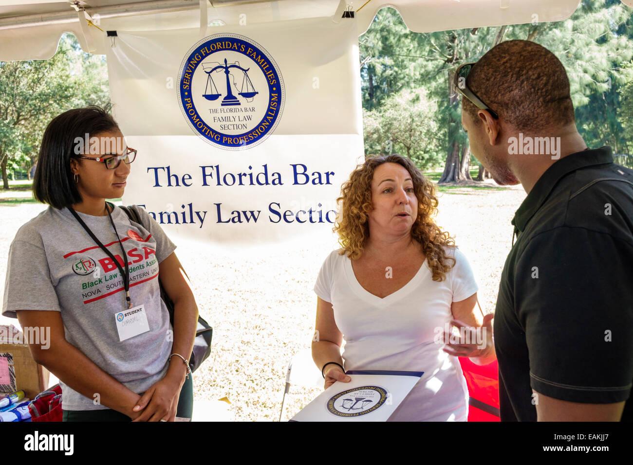 Miami Hialeah Florida Amelia Earhart Park Kozyak Annual Minority Mentoring Picnic networking law firms judges lawyers Stock Photo