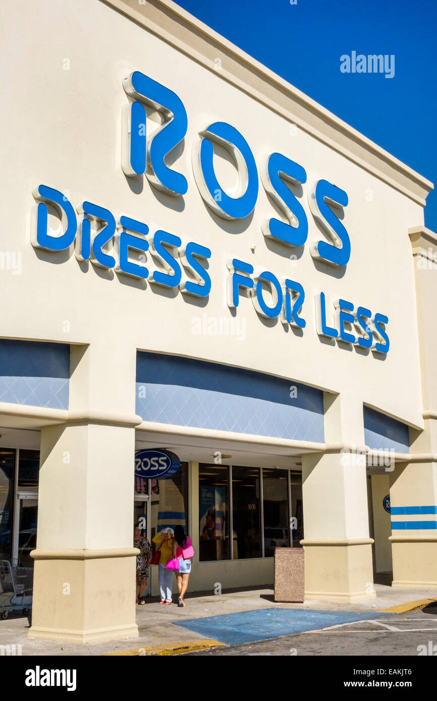 bfcce05a9c86 Miami Hialeah Florida Ross Dress for Less discount department store front  entrance shopping