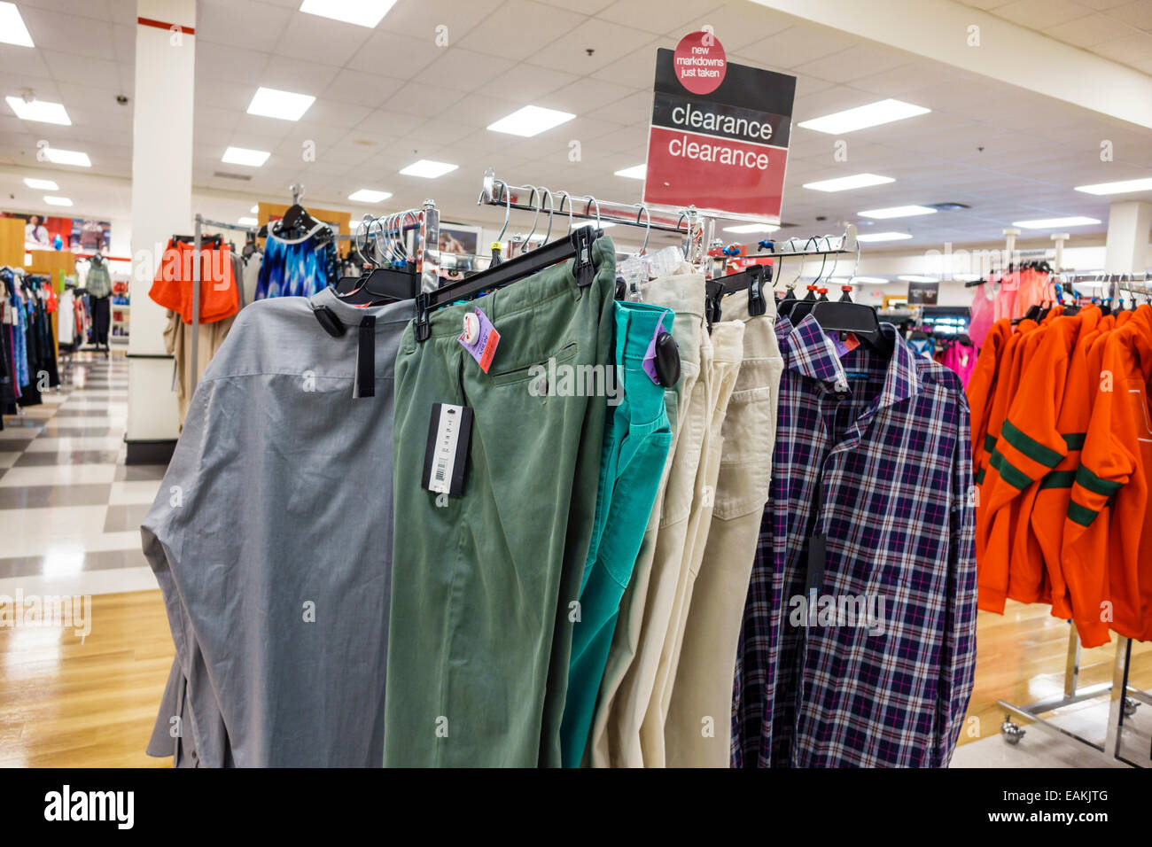 4c3b05a6722 Miami Hialeah Florida T.J. Maxx discount department store inside shopping  clearance sale men s clothing