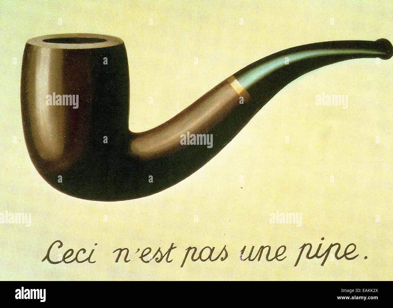 René Magritte  The Treachery of Images - Stock Image