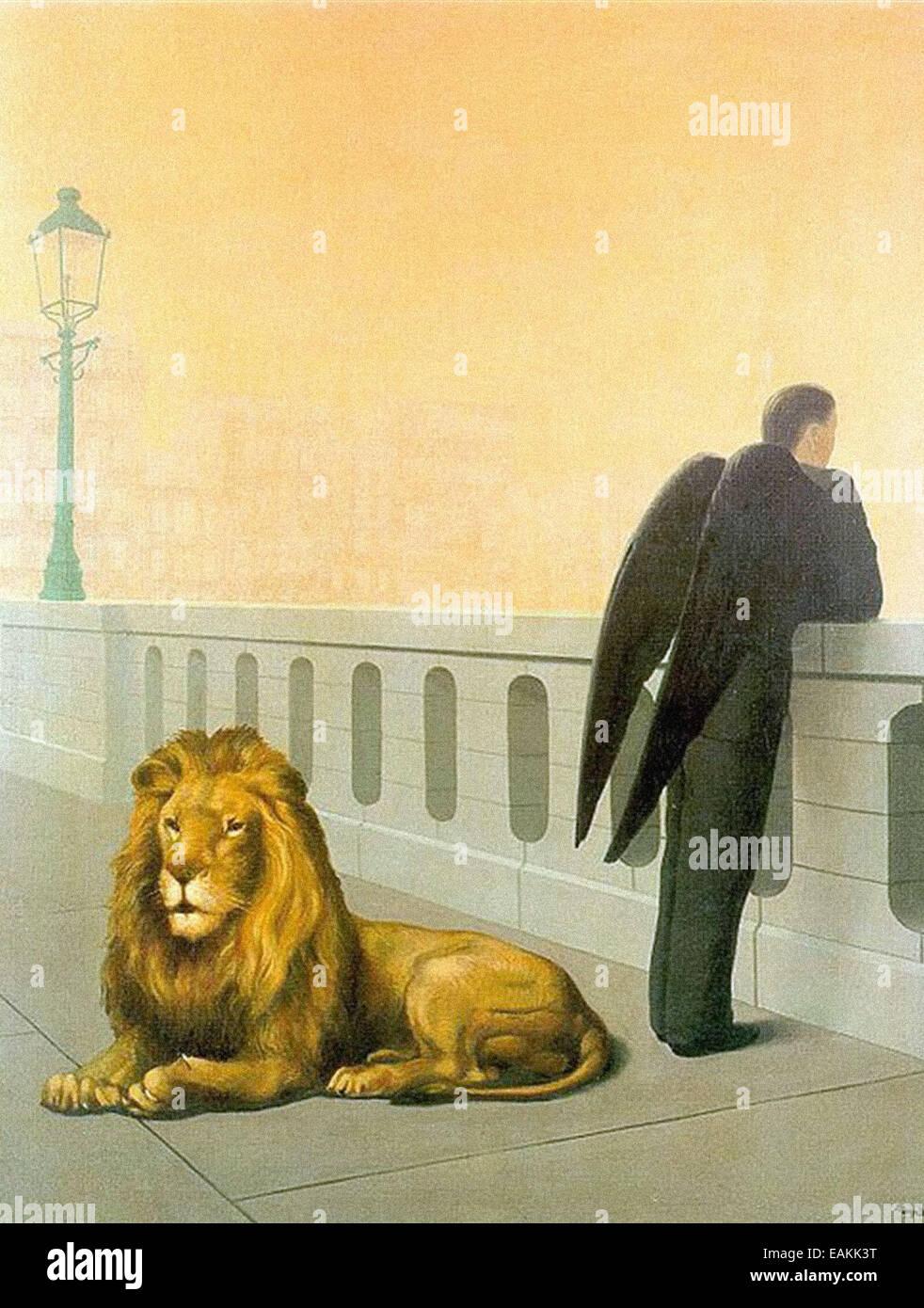 René Magritte  Homesickness- Stock Photo