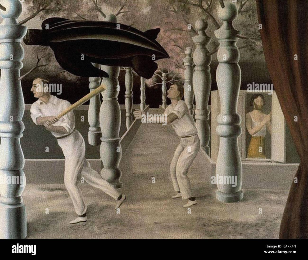 René Magritte  The Secret Player - Stock Image