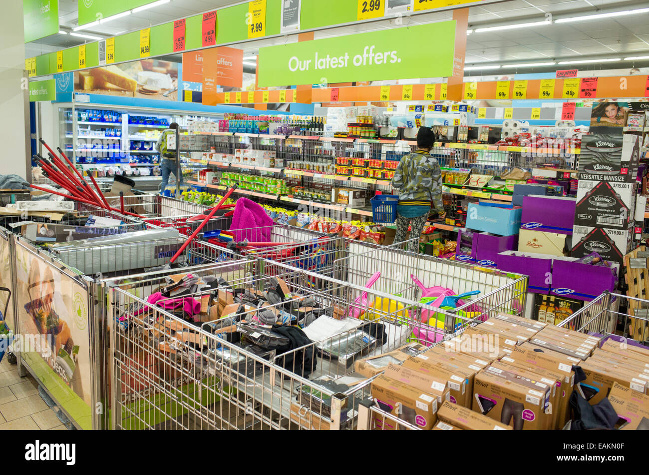 Lidl supermarket, London, England, UK - Stock Image
