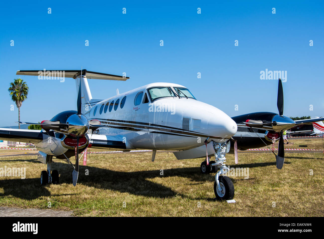 Beechcraft King Air at the Nelspruit Airport - Stock Image