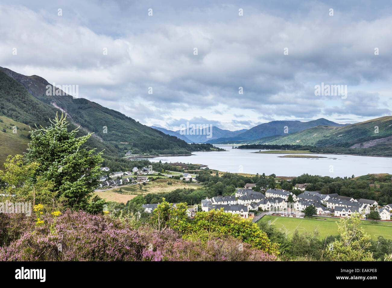 View Over Ballachulish & Loch Leven. - Stock Image