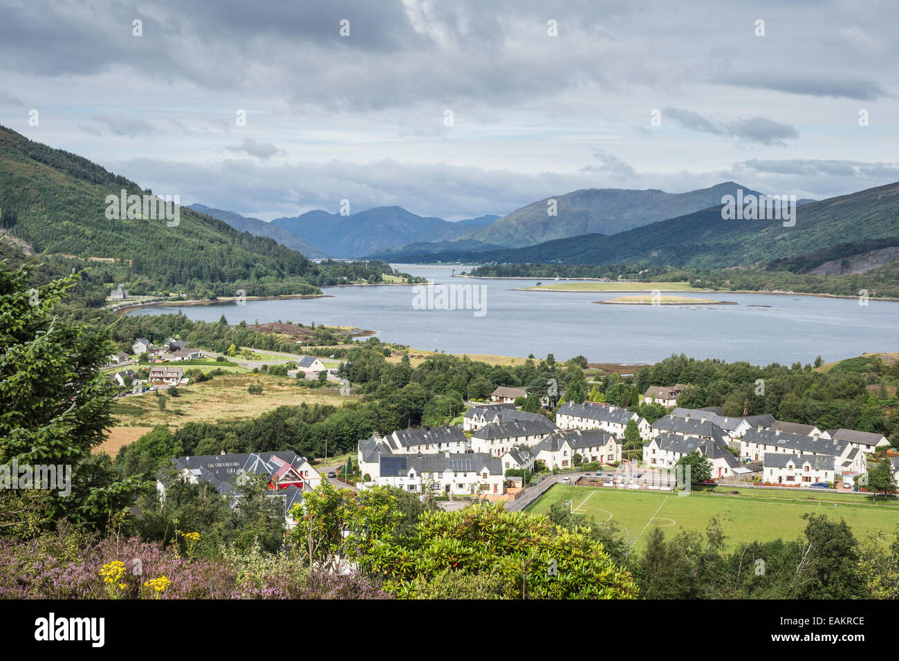 View over Loch Leven & Ballachulish. - Stock Image