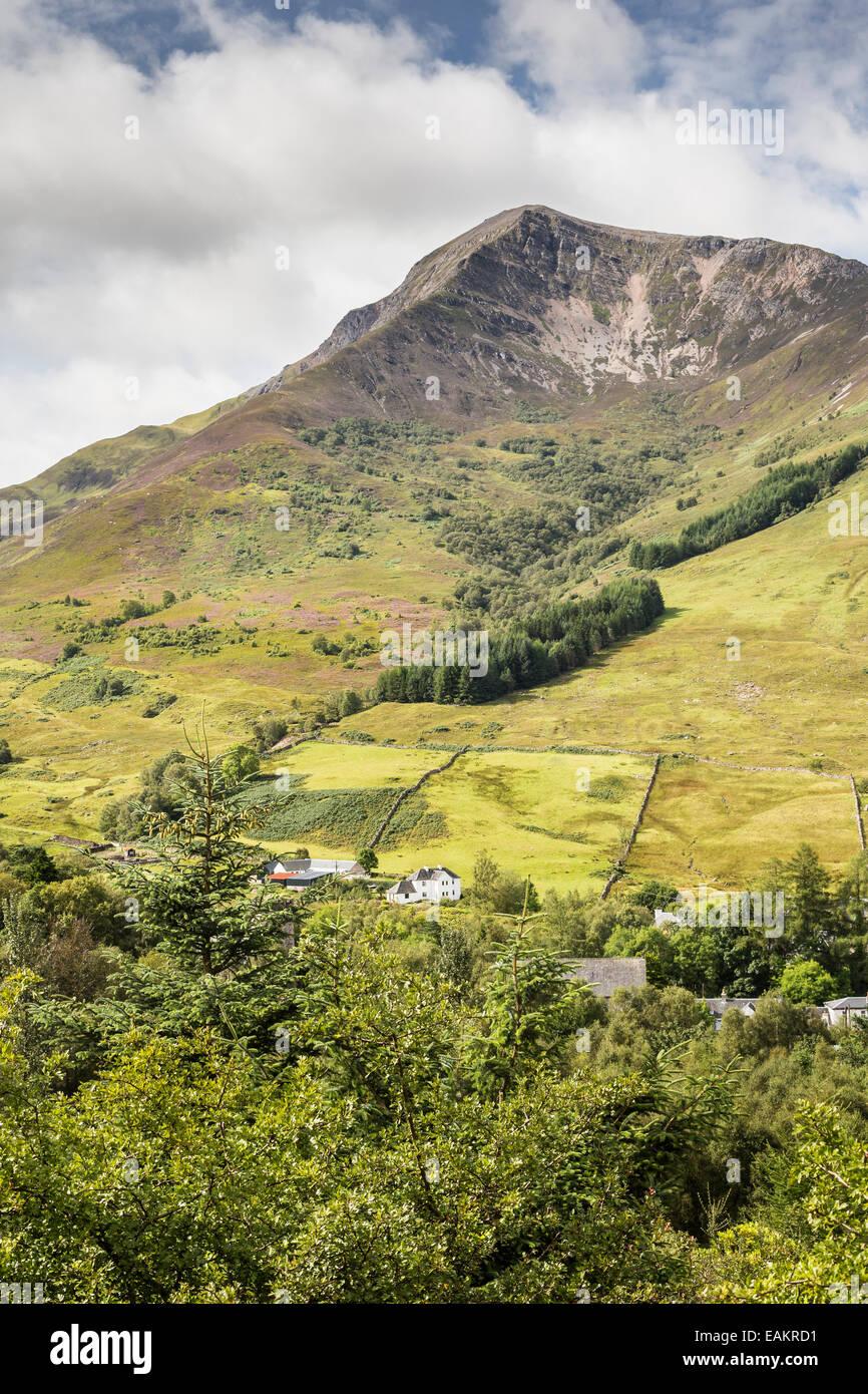 Sgorr Dhearg north face at Ballachulish in Scotland. - Stock Image