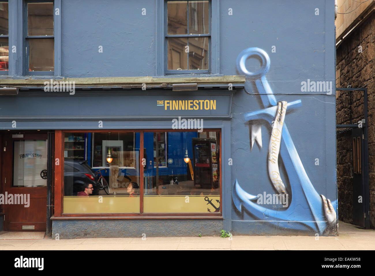 The Finnieston restaurant, on the trendy regenerated 'Finnieston Strip', on Argyle Street, in Glasgow, Scotland, - Stock Image