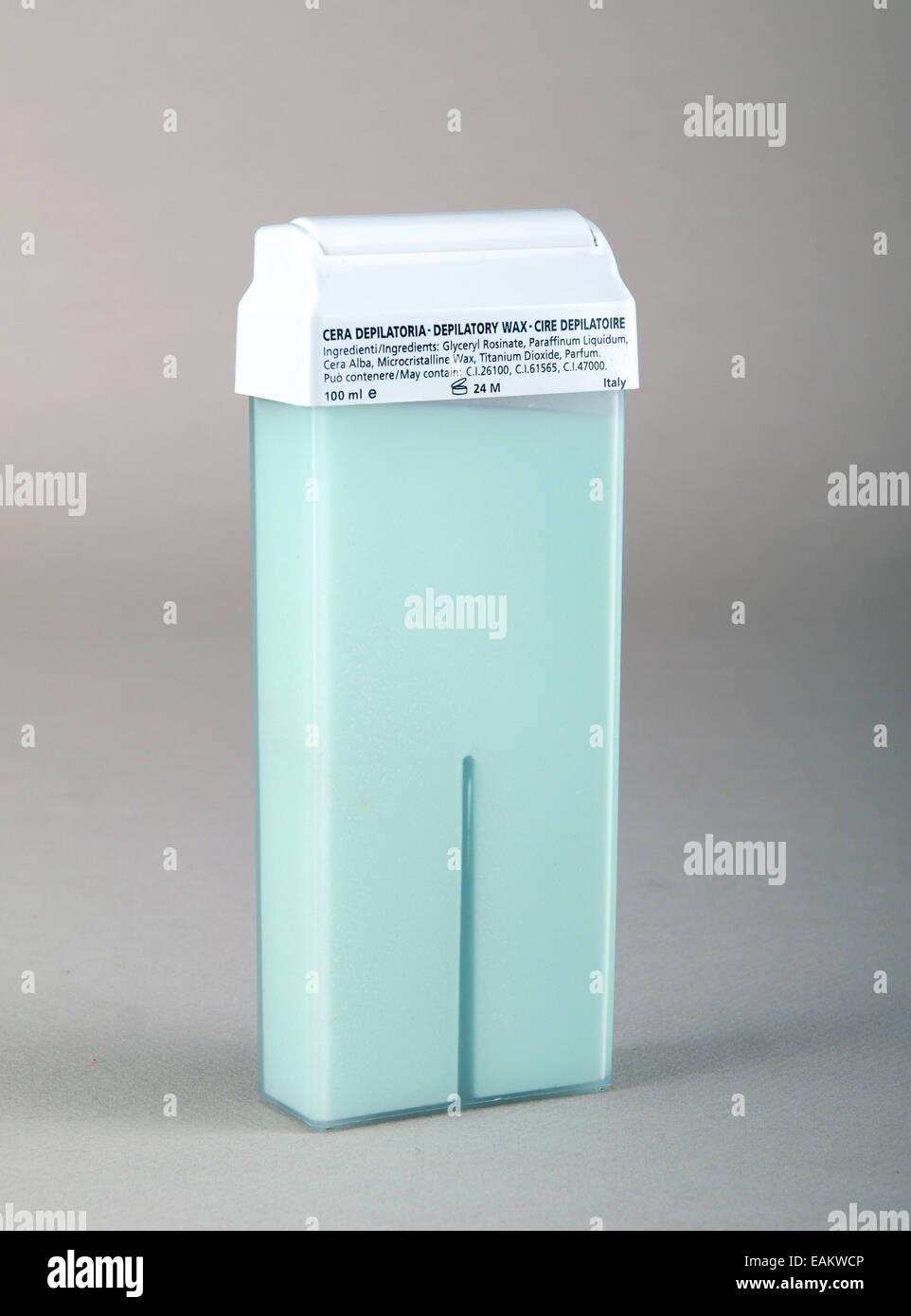 Depilatory wax - Stock Image