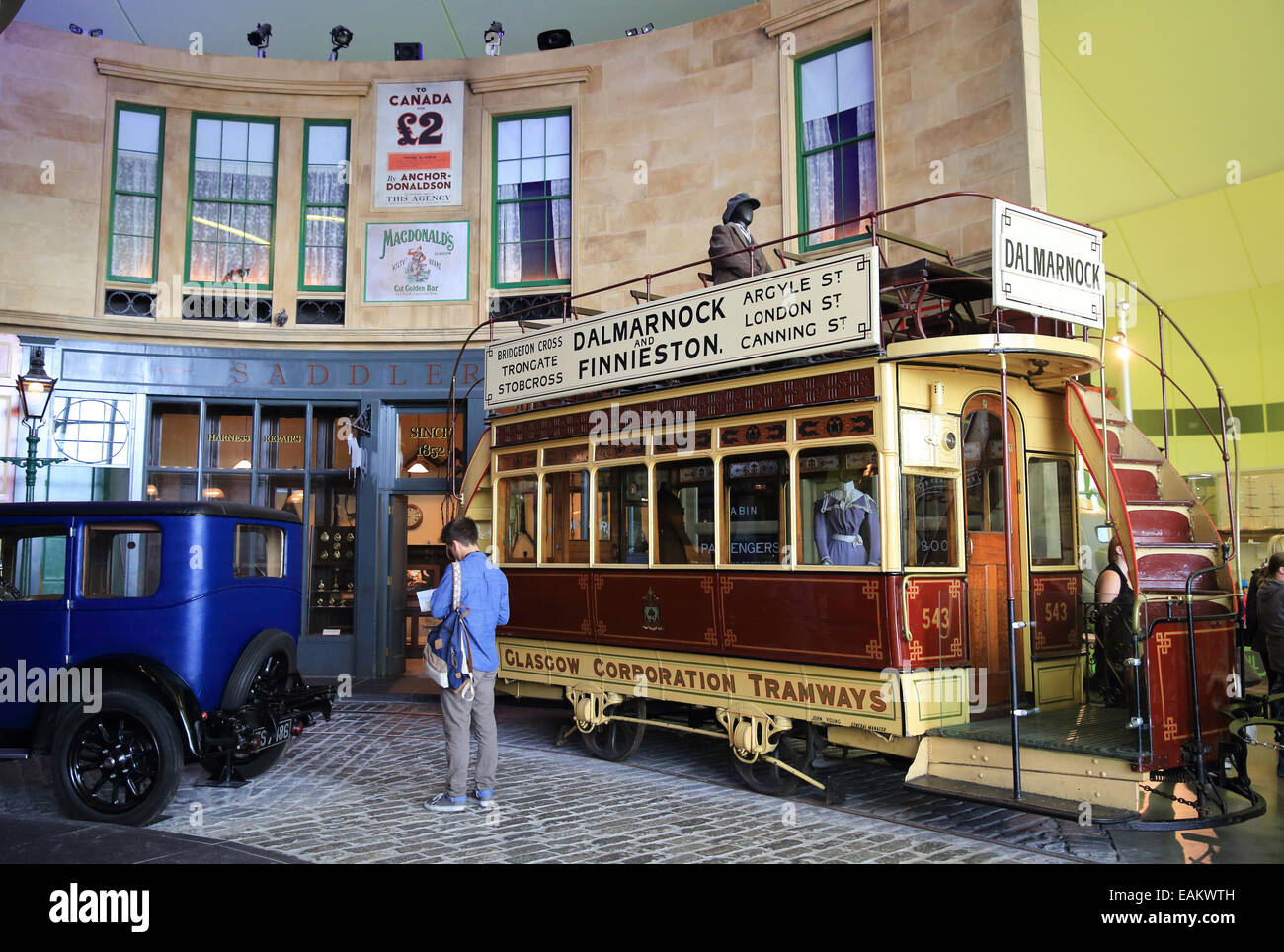 The Glasgow Riverside Transport Museum, in the regeneration area, displaying Glasgow's rich, industrial heritage, - Stock Image