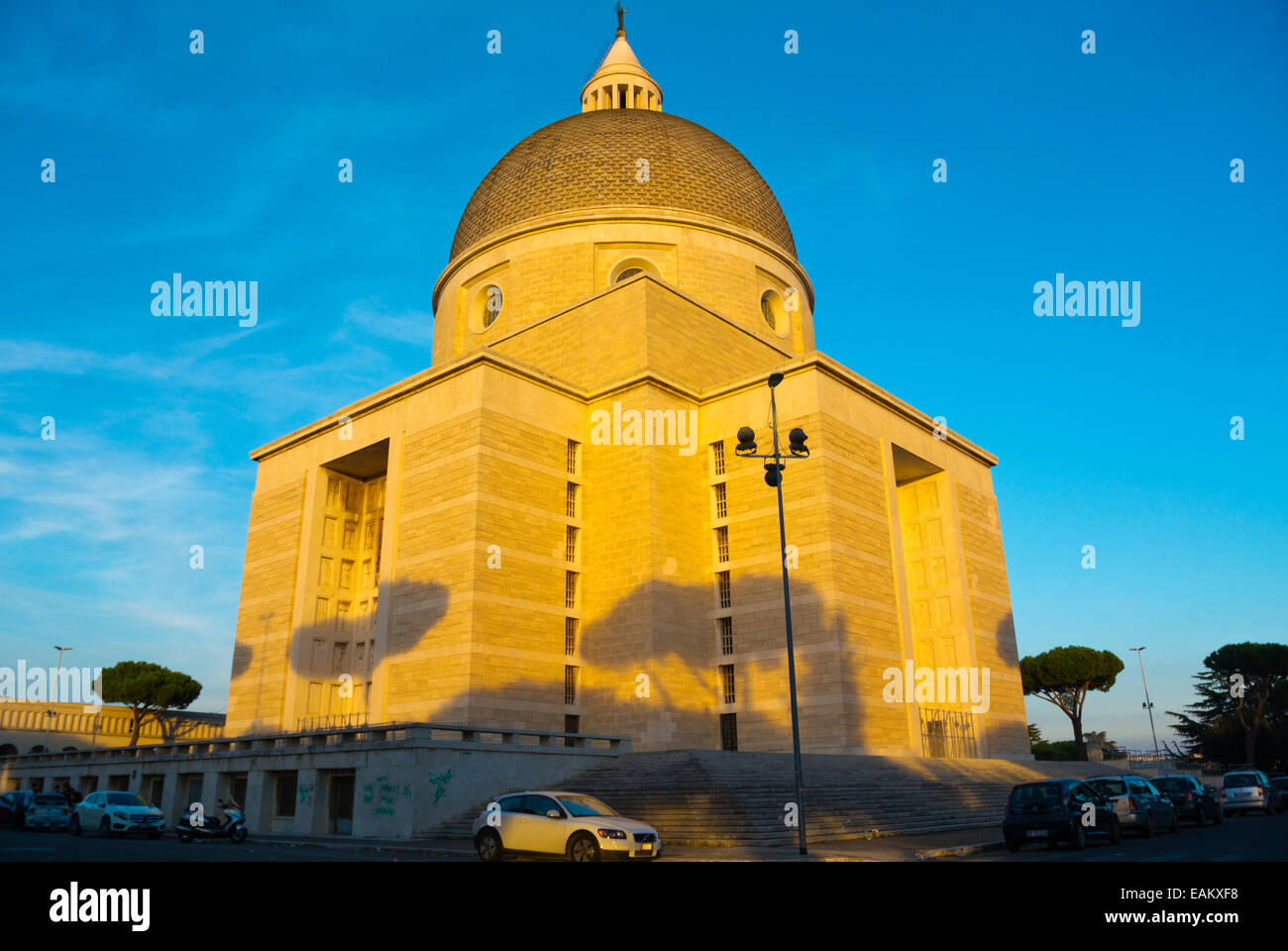 Basilica parrocchiale dei Santi Pietro e Paolo, Basilica of Peter and Paul, EUR government and financial district, - Stock Image
