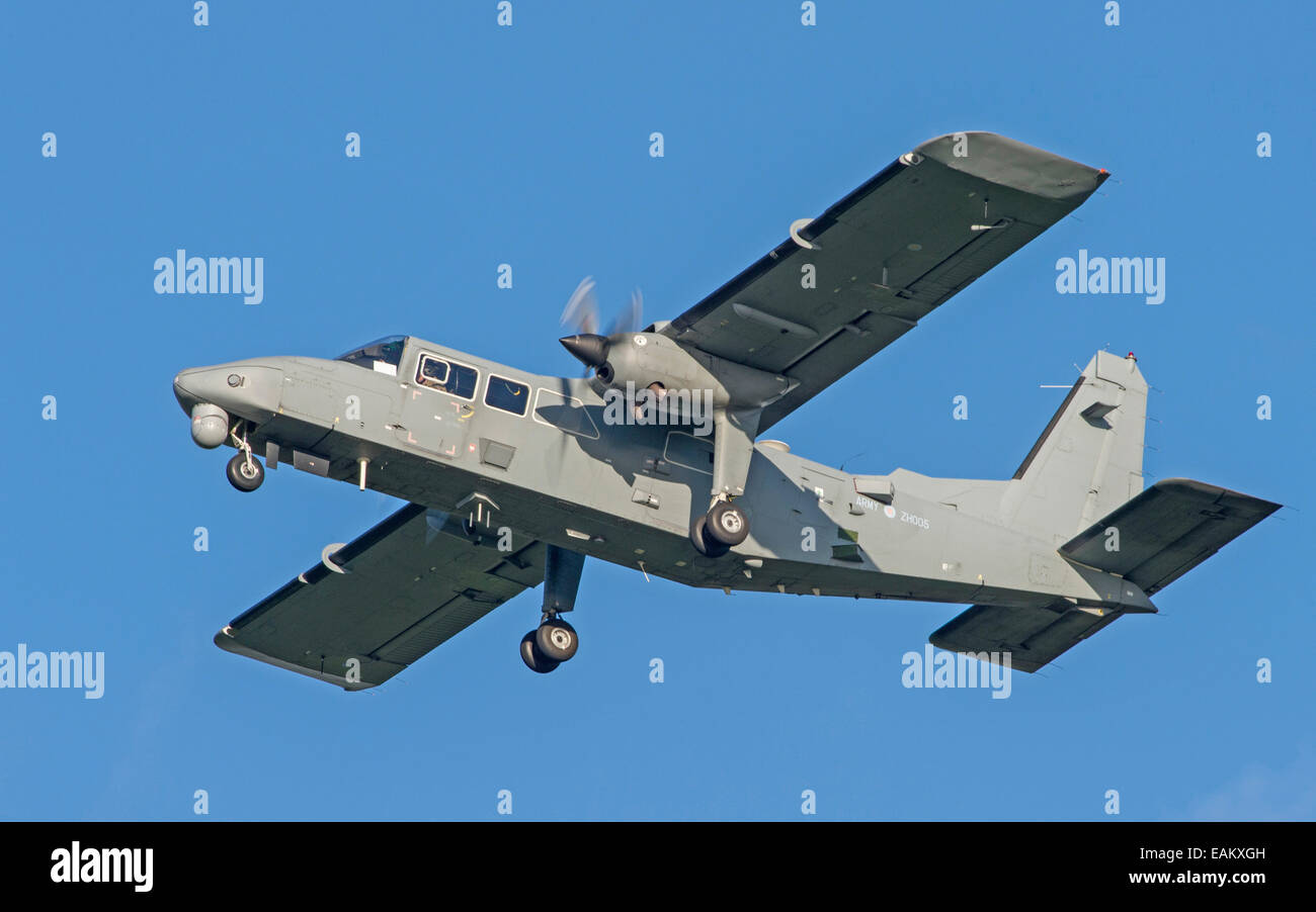 Army Air Core Britten Norman Defender - Stock Image
