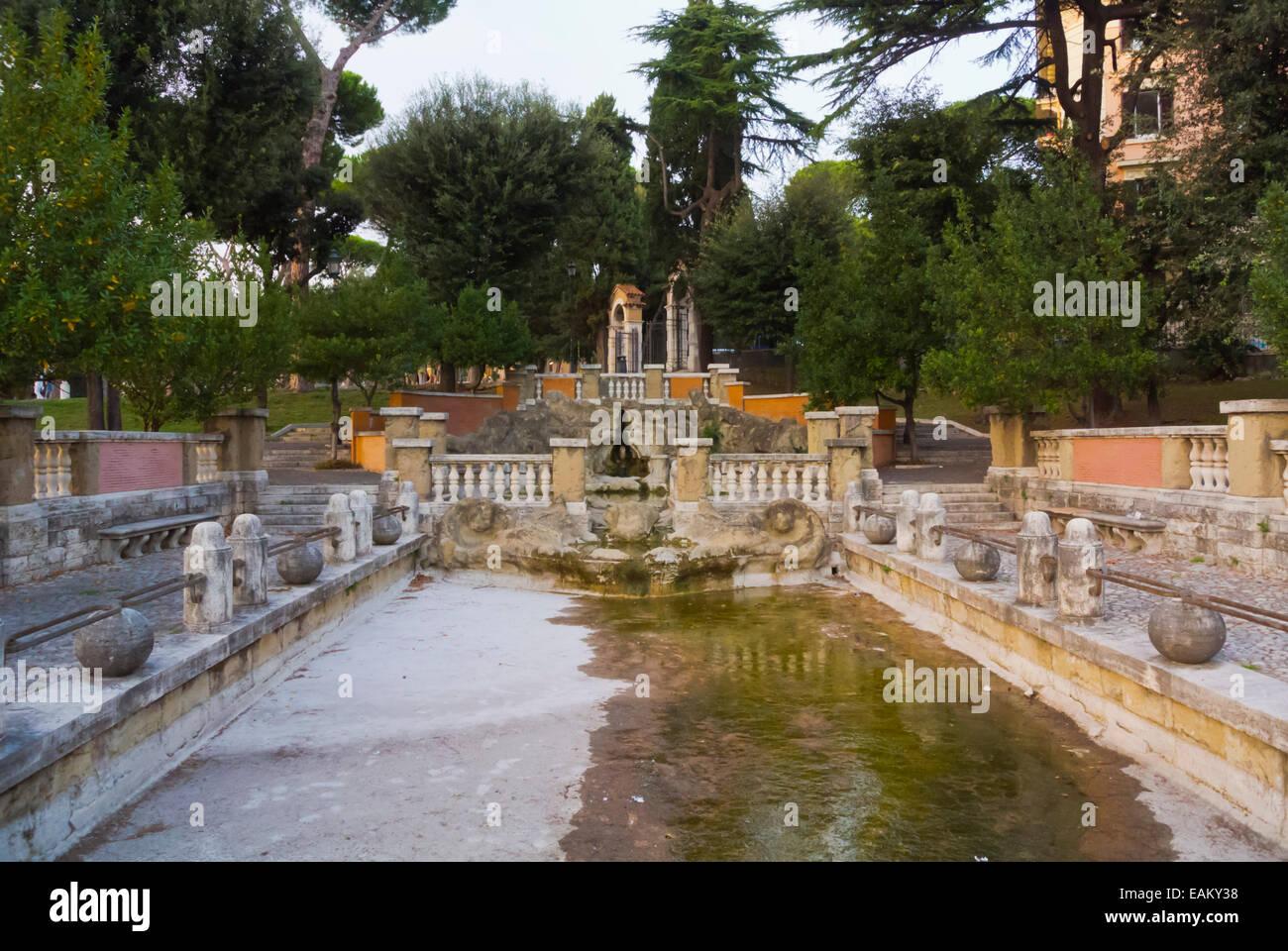 Terme di Traiano, Trajan's baths, Parco delle Colle Oppio, Monti district, Rome, Italy - Stock Image