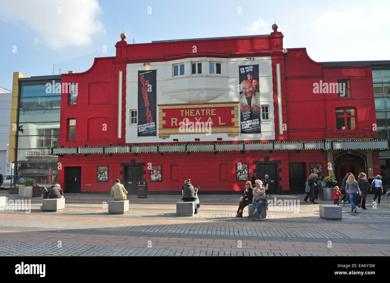 THEATRE ROYAL STRATFORD EAST LONDON UK - Stock Image