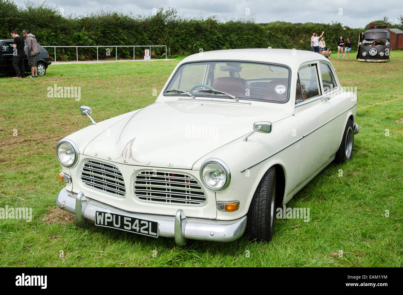 A Volvo 123 at a vintage car rally in Cornwall, UK - Stock Image