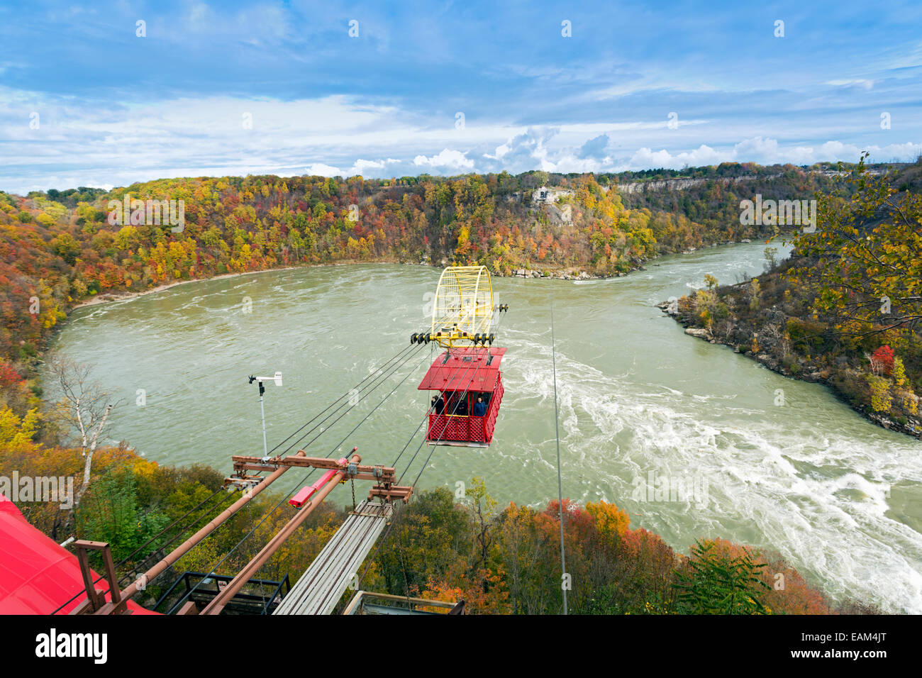 Canada,Ontario,Niagara Falls, Spanish Aero car crossing the Niagara Gorge - Stock Image