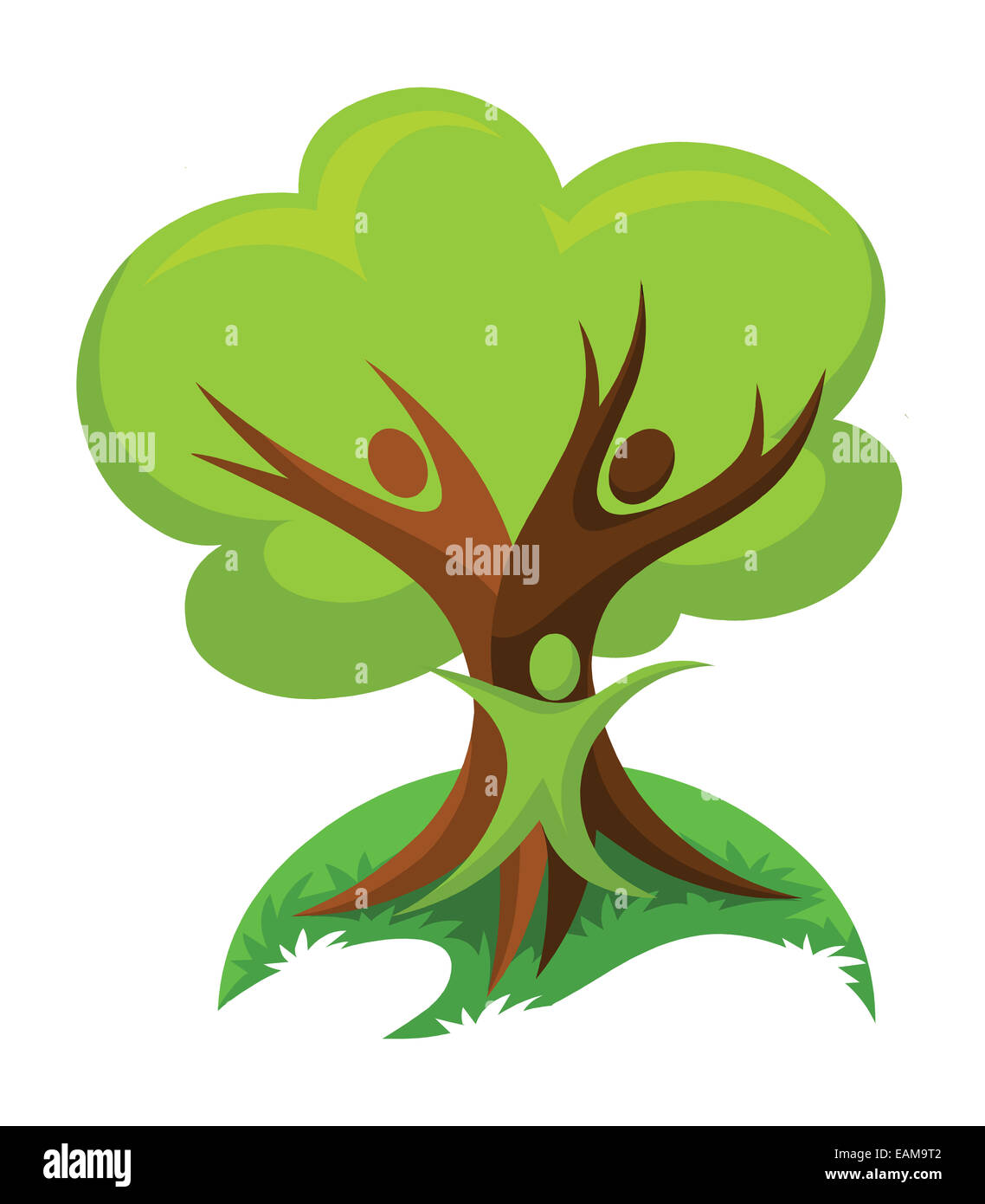 vector illustration of save trees think green concept stock photo