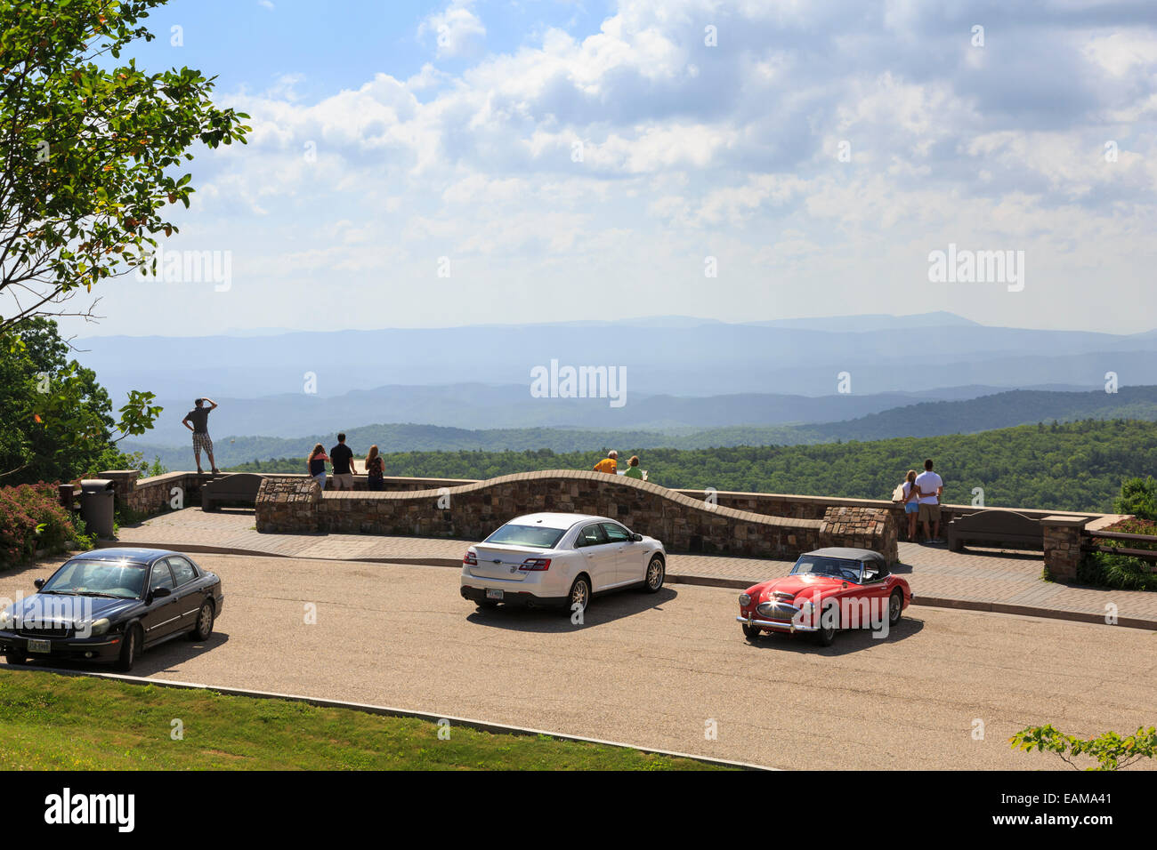 Dan Ingalls Overlook, Bath County, Virginia near Homestead Resort - Stock Image