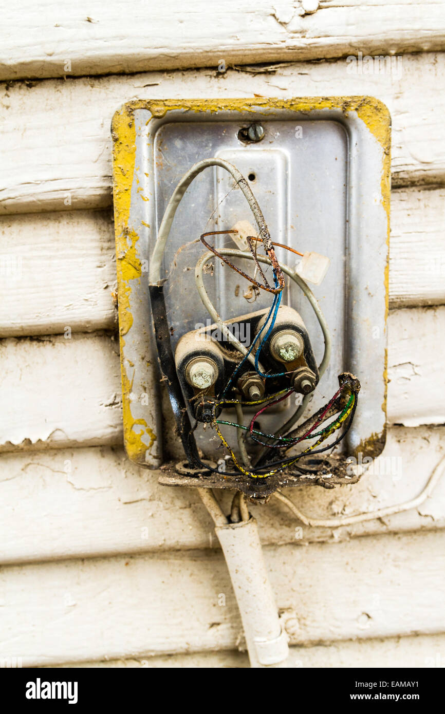 Sensational A Very Old Bell System Protector For Telephone Service Which Wiring 101 Capemaxxcnl