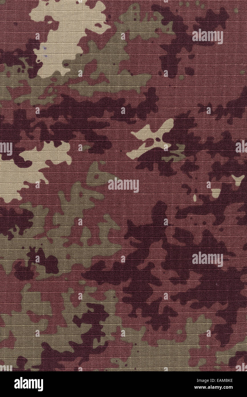 Italian army's camo fabric background high resolution scan - Stock Image