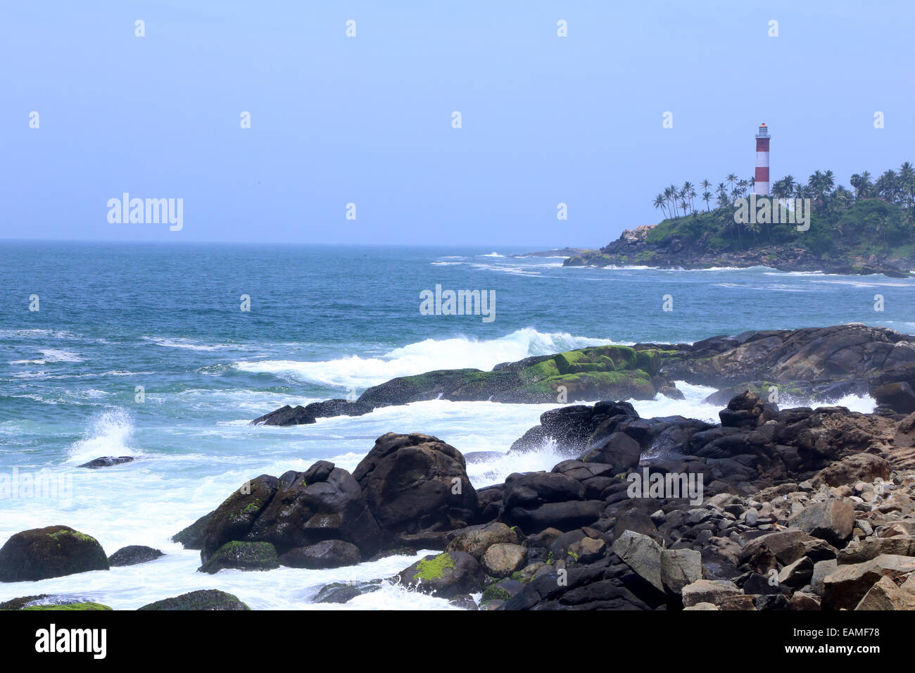 Vizhinjam, Thiruvananthapuram, Kerala, Indian, - Stock Image