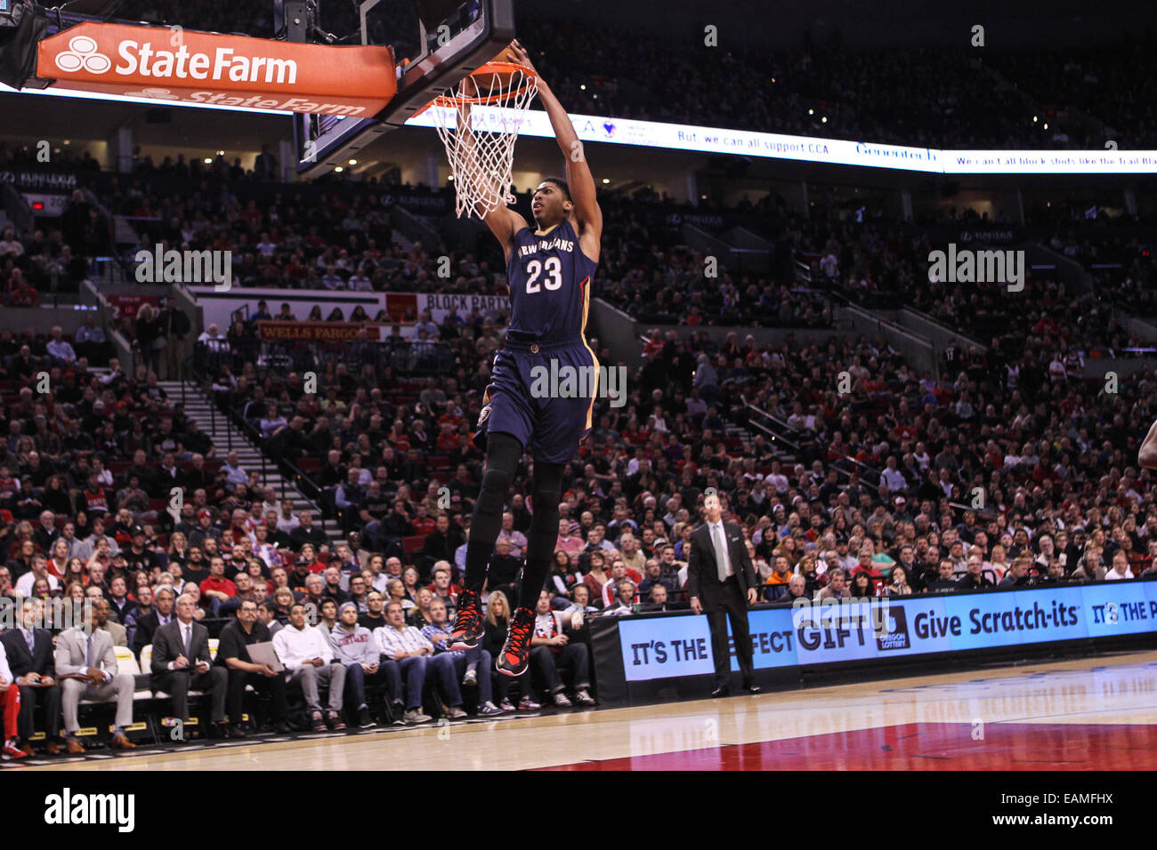 the best attitude ee090 dad78 17, 2014 - ANTHONY DAVIS (23) dunks the ball. The Portland Trail Blazers  play the New Orleans Pelicans at the Moda Center on November 17, 2014.
