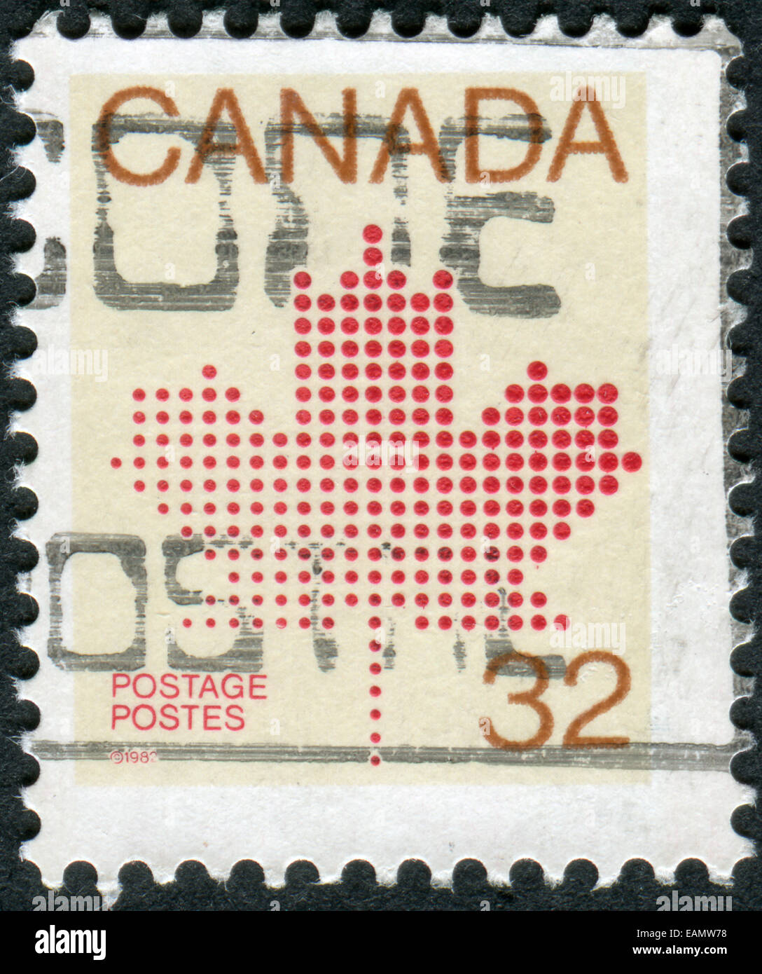 Maple Leaf Postage Stamp Canada Stock Photos Maple Leaf Postage