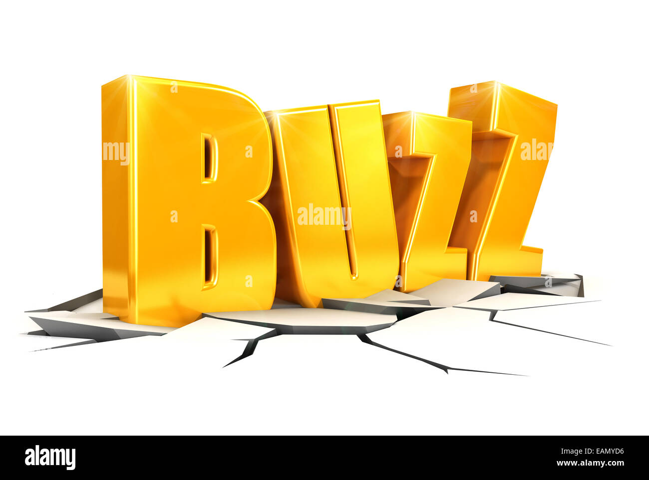 3d buzz concept, isolated white background, 3d image Stock Photo