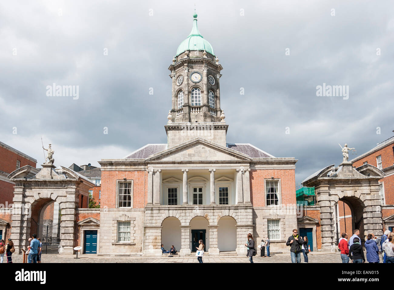 Dublin, Ireland - Aug 11, 2014: The Bedford Tower at the Dublin Castle in Dublin, Ireland on August 11, 2014. - Stock Image
