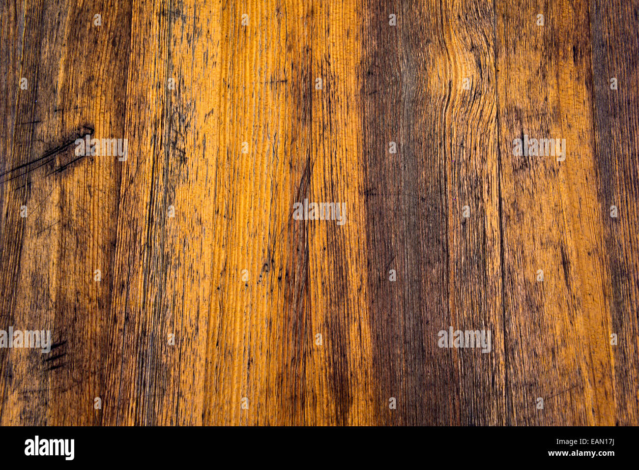 wood planks weathered down - Stock Image
