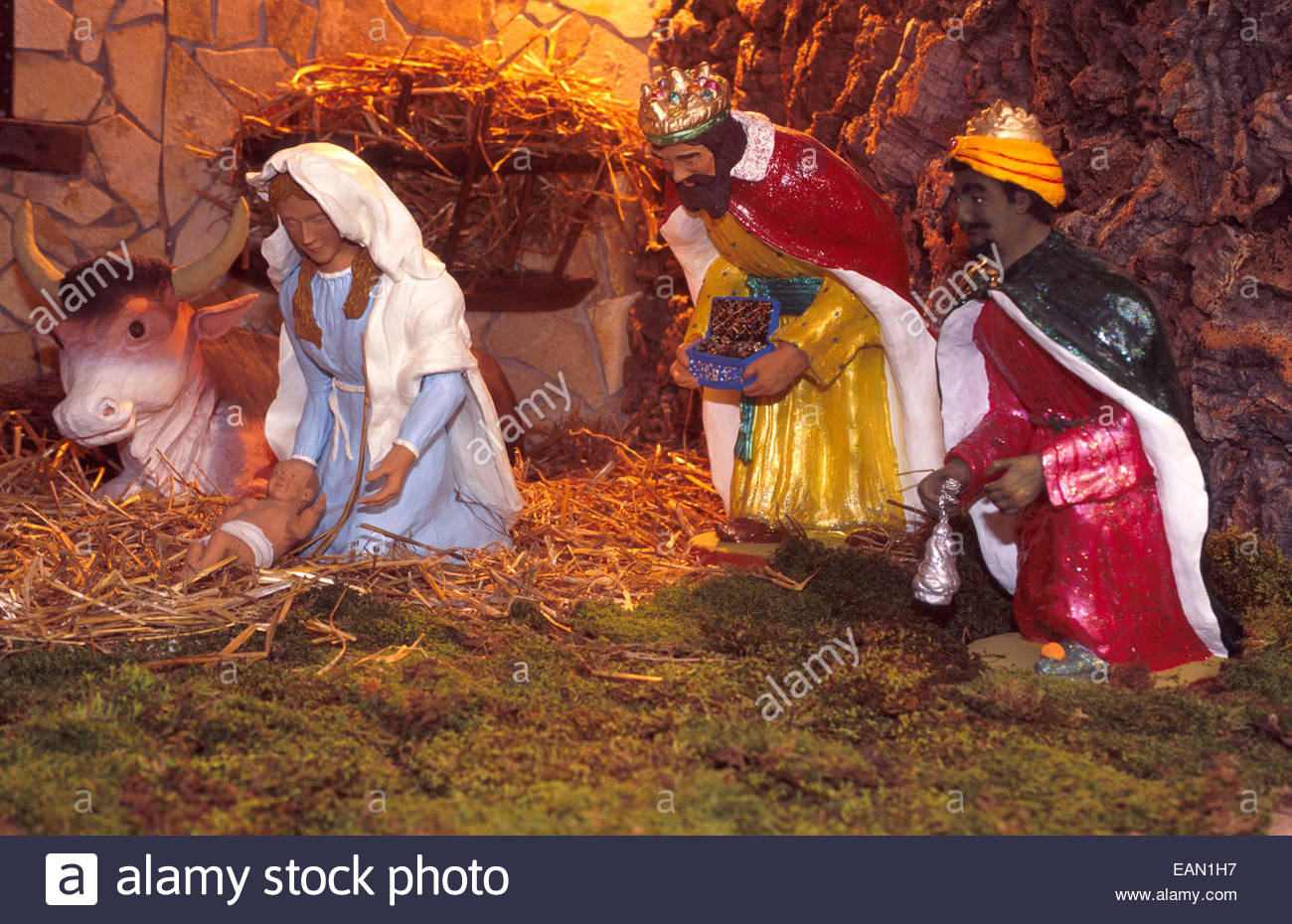 Christmas crib. - Stock Image
