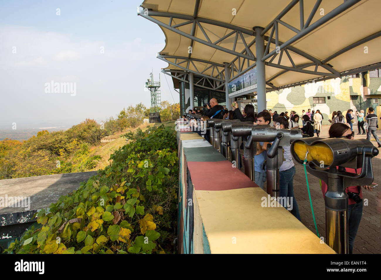Dorasan lookout on the border between North and South Korea in the DMZ - Stock Image