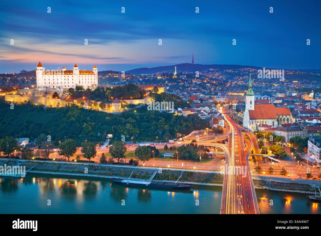 Bratislava, Slovakia. Image of Bratislava, the capital city of Slovakia. - Stock Image