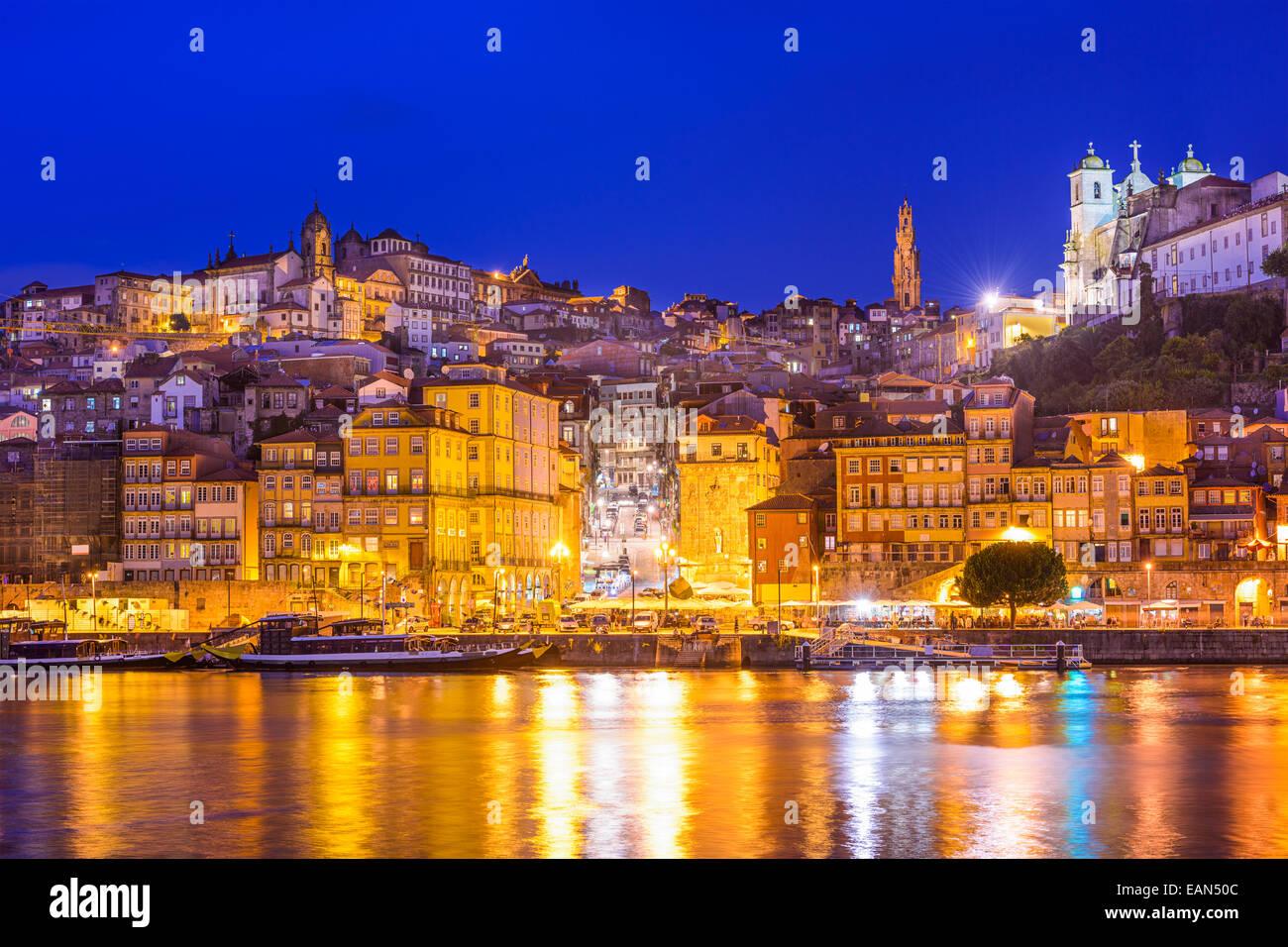 Porto, Portugal cityscape across the Douro River. - Stock Image