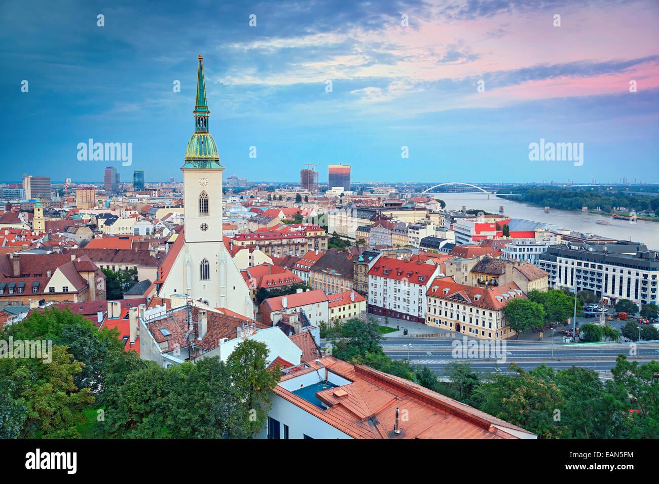 Image of Bratislava, the capital city of Slovak Republic. - Stock Image