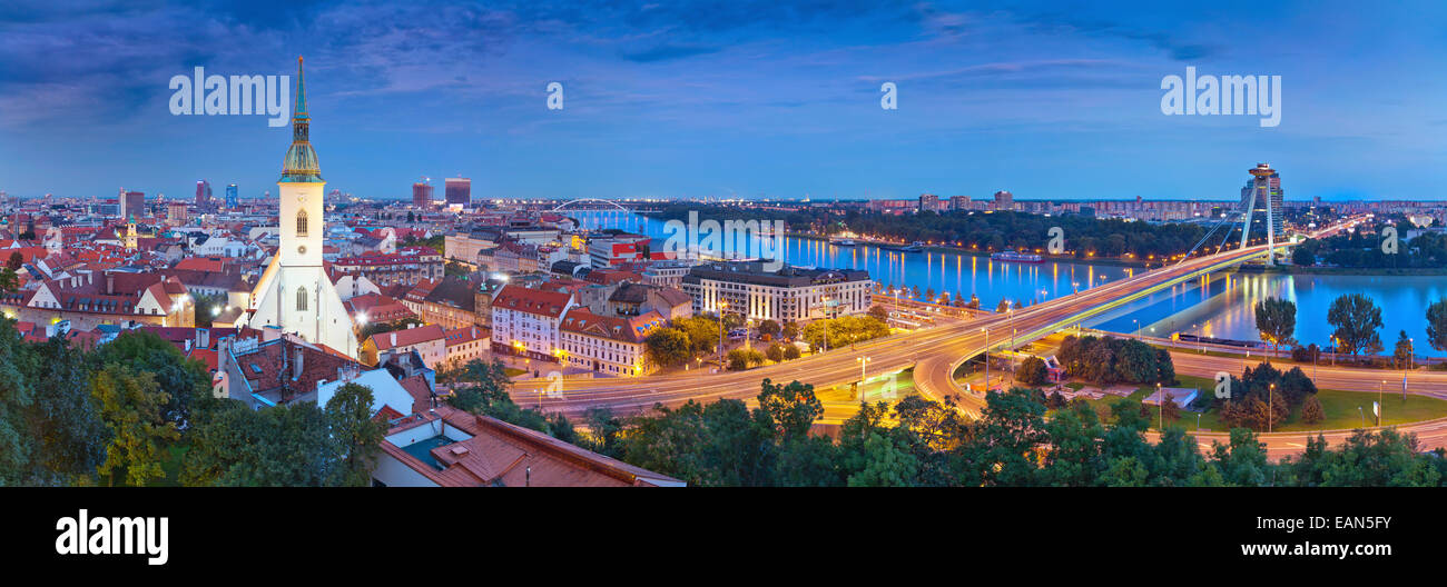 Panoramic image of Bratislava, the capital city of Slovak Republic. - Stock Image