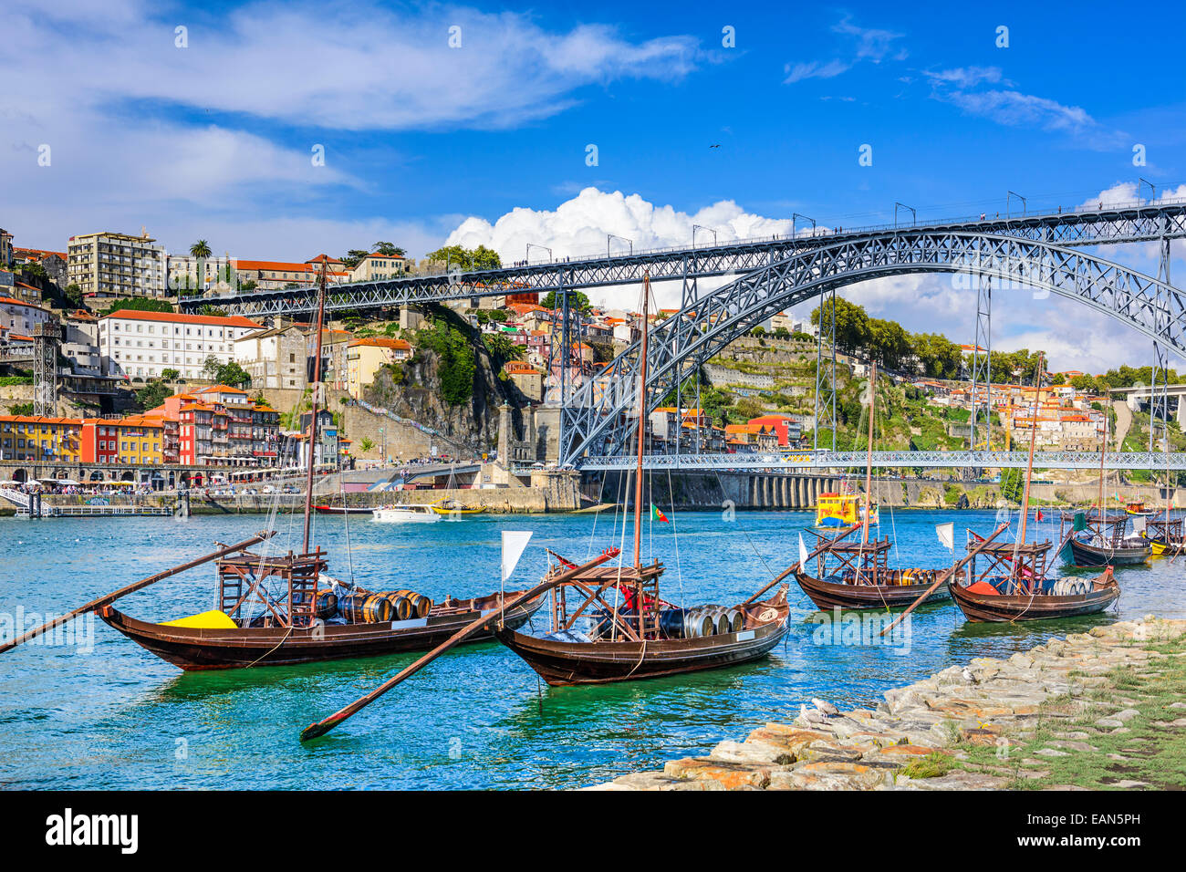 Porto, Portugal cityscape on the Douro River. - Stock Image