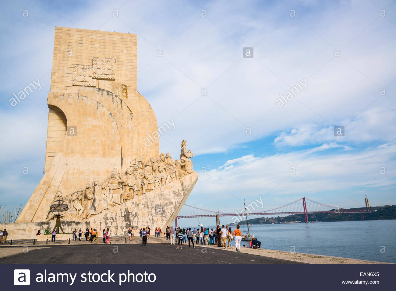 Monument to the Discoveries, Belem district, Lisbon, Portugal - Stock Image