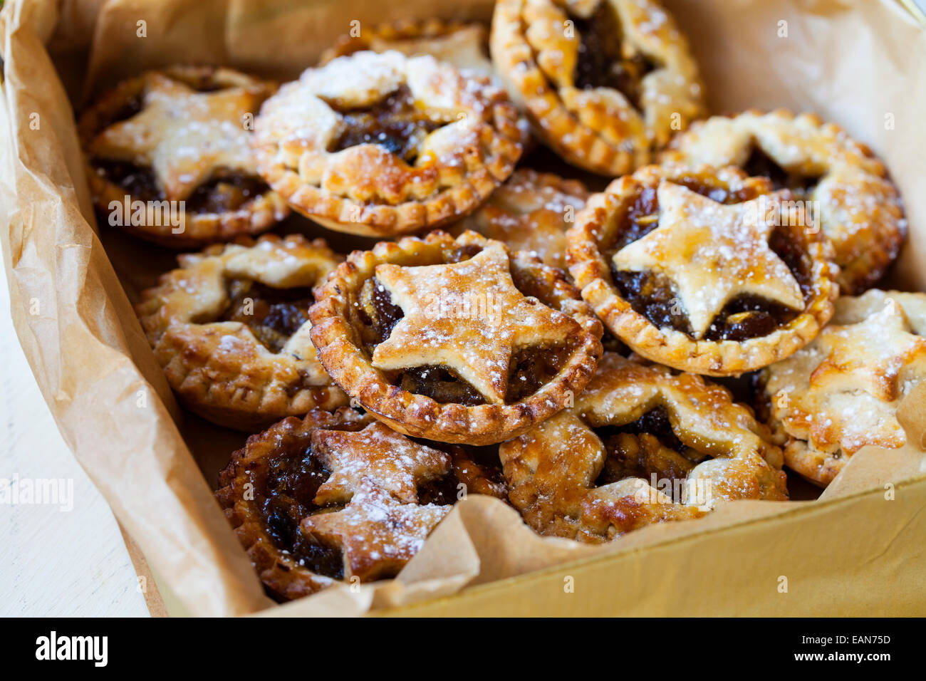 Traditional Christmas mice pies - Stock Image