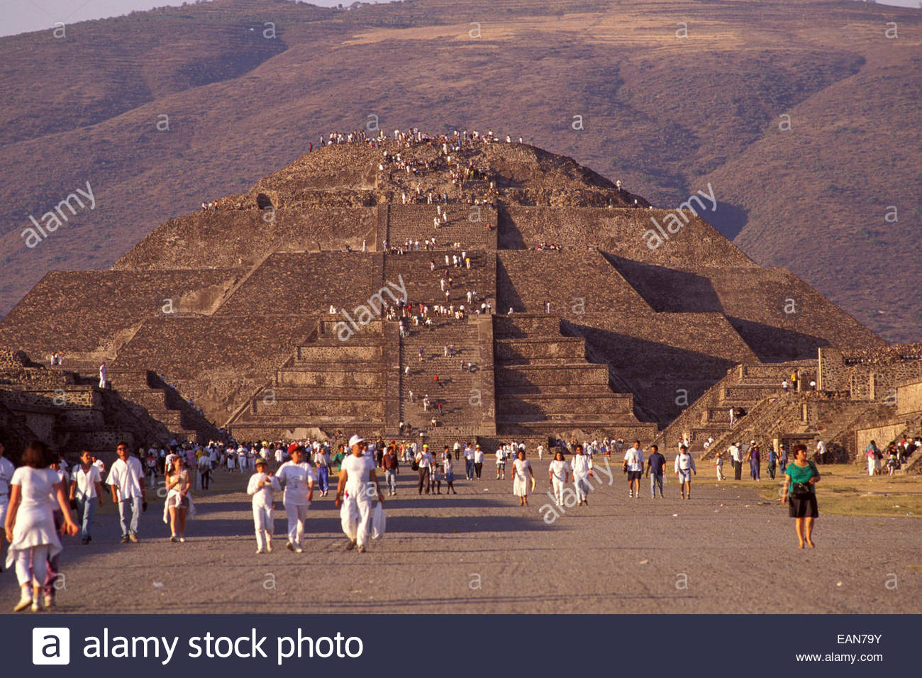 Mexico, archeological site of Teotihuacan, Pyramid of the Moon Stock Photo