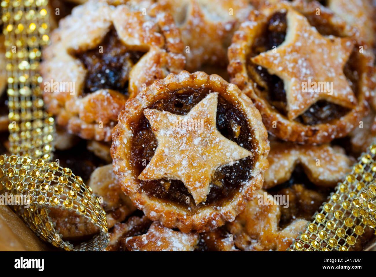 Traditional Christmas mice pies - Stock Image