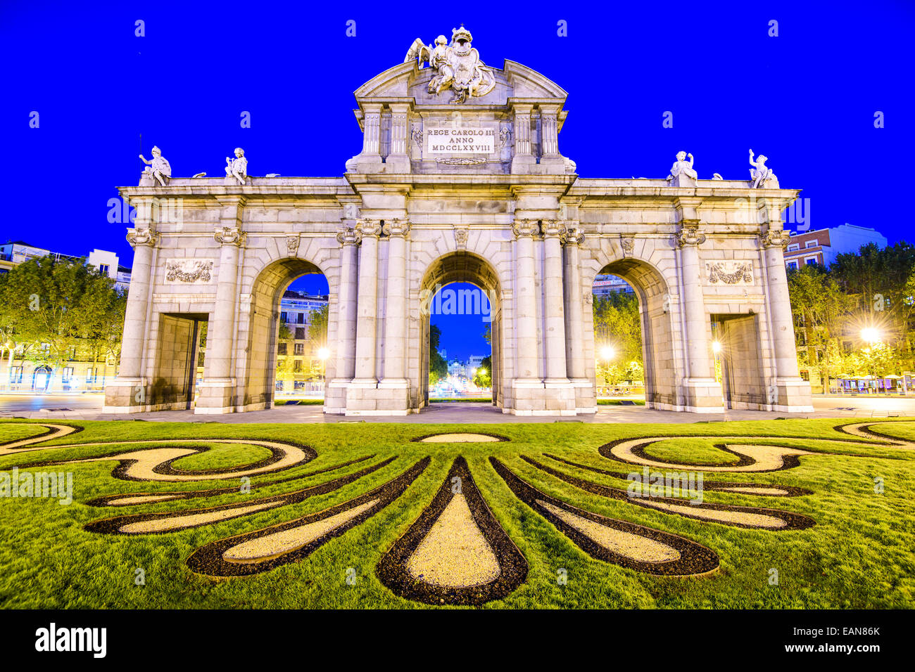 Madrid, Spain at Puerta de Alcala gate. - Stock Image
