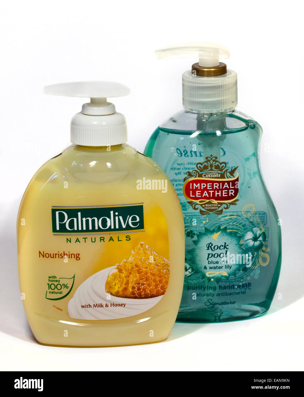 Palmolive and Imperial Leather Hand Washes - Stock Image