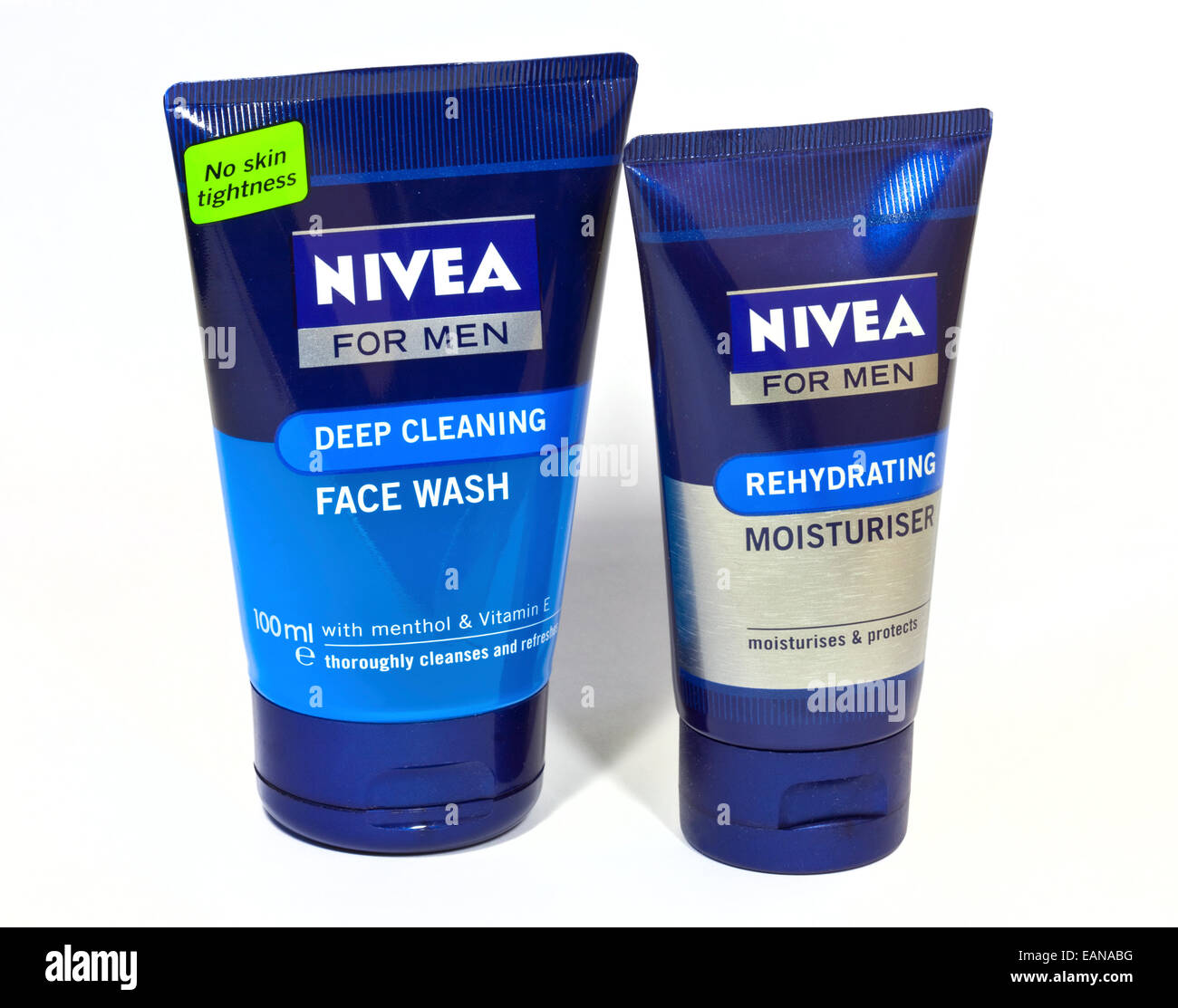 Nivea for Men Deep Cleaning Face Wash and Rehydrating Moisturiser - Stock Image